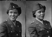 view Miss (Lt.) Alma Jackson [in uniform] : [acetate film photonegative] digital asset: Miss (Lt.) Alma Jackson [in uniform] : [acetate film photonegative, ca. 1945].
