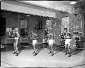 view Howard University boxing team [acetate film photonegative] digital asset: Howard University boxing team [acetate film photonegative], 1949.