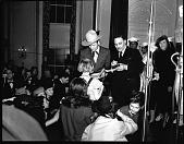 view Elder Michaux with Gene Autry [acetate film photonegative] digital asset: Elder Michaux with Gene Autry [acetate film photonegative, 1940].