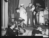 view [Elder Michaux with Gene Autry and Eleanor Roosevelt : acetate film photonegative] digital asset: [Elder Michaux with Gene Autry and Eleanor Roosevelt : acetate film photonegative, 190.]