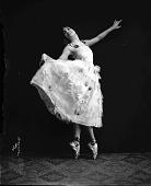 view Mable Jones Freewau (Freeman?) dancing [acetate film photonegative] digital asset: Mable Jones Freewau (Freeman?) dancing [acetate film photonegative, ca. 1928-1929].