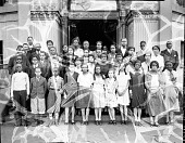 view Shaw Junior High, February graduates [acetate film photonegative] digital asset: Shaw Junior High, February graduates [acetate film photonegative], 1932.