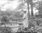 view Dr. Anna J. Cooper in her garden, home & patio [acetate film photonegative] digital asset: Dr. Anna J. Cooper in her garden, home & patio [acetate film photonegative, ca. 1930?]