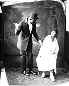 view Oakley & Oakley [male and female theatrical performers : nitrate film photonegative.] digital asset: Oakley & Oakley [male and female theatrical performers : nitrate film photonegative.]