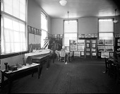 view Monroe School [classroom, featuring students art : nitrate film photonegative.] digital asset: Monroe School [classroom, featuring students art : nitrate film photonegative.]