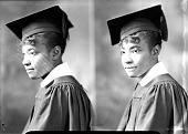 view E. Ware [Female graduate : nitrate film photonegative.] digital asset: E. Ware [Female graduate : nitrate film photonegative.]