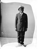 view Dusty Murray [vaudeville performer in blackface : nitrate film photonegative] digital asset: Dusty Murray [vaudeville performer in blackface : nitrate film photonegative ca. 1926].