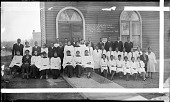 view Senior and Junior Choirs of Tabernacle Baptist Church. Feb. 7, 1932 [acetate film photonegative, banquet camera format.] digital asset: Senior and Junior Choirs of Tabernacle Baptist Church. Feb. 7, 1932 [acetate film photonegative, banquet camera format.]