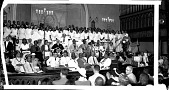 view [Posed group inside a church, including member of the Improved, Benevolent, Protective, Order of Elks of the World : acetate film photonegative, banquet camera format.] digital asset: [Posed group inside a church, including member of the Improved, Benevolent, Protective, Order of Elks of the World : acetate film photonegative, banquet camera format.]
