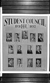 view Student Council 1931 HU [Howard University] 1932 [acetate film photonegative, banquet camera format.] digital asset: Student Council 1931 HU [Howard University] 1932 [acetate film photonegative, banquet camera format.]