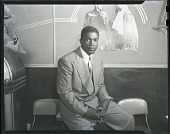 view Jackie Robinson [from envelope] [acetate film photonegative] digital asset: Jackie Robinson [from envelope] [acetate film photonegative,] October 1947.