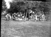 view Jim and Grace Dent's picnic [from envelope; second of 2] [acetate film photonegative] digital asset: Jim and Grace Dent's picnic [from envelope; second of 2] [acetate film photonegative] August 1957.