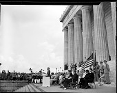 view NAACP Mass Meeting [Lincoln Memorial--Harry Truman address, Mrs. Roosevelt-- 38th annual NAACP Conference; from envelope; #1 of 4] [acetate film photonegative,] digital asset: NAACP Mass Meeting [Lincoln Memorial--Harry Truman address, Mrs. Roosevelt-- 38th annual NAACP Conference; from envelope; #1 of 4] [acetate film photonegative,] June 28, 1947.