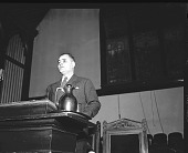 view Dr. Ralph Bunche Forum Series [from envelope; #2 of 2] [acetate film photonegative,] digital asset: Dr. Ralph Bunche Forum Series [from envelope; #2 of 2] [acetate film photonegative,] [1940-1950].