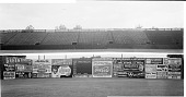 view [Griffith stadium(?) (the Senators): stands and outer wall with advertisements] [acetate film photonegative, banquet camera format.] digital asset: [Griffith stadium(?) (the Senators): stands and outer wall with advertisements] [acetate film photonegative, banquet camera format.]