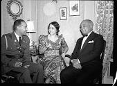 view President Lescott and Madame (Lillian) Evanti [acetate film photonegative] digital asset: President Lescott and Madame (Lillian) Evanti [acetate film photonegative, ca. 1940s].