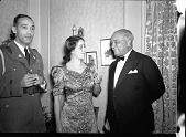 view President Lescott and Madame Lillian Evanti [acetate film photonegative] digital asset: President Lescott and Madame Lillian Evanti [acetate film photonegative], ca. 1940s.