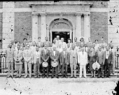 view [National Bankers Association in front of Founders Library at Howard University : acetate film photonegative,] 7/47 digital asset number 1