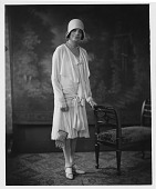 view Scurlock Studio Records, Series 1: Black and White Photographs digital asset: Mrs. Oscar [Jessie Williams] De Priest [paper photoprint], [June 19?] 1929.