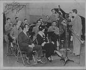 view [Dorsey Bros. Orchestra with Bob Crosby and Kay Weber : black-and-white photoprint,] digital asset: [Dorsey Bros. Orchestra with Bob Crosby and Kay Weber : black-and-white photoprint,] Fall, 1934.