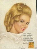 view Breck Shampoo brings out the shine in your hair. [Print advertising.] digital asset: Breck Shampoo brings out the shine in your hair. [Print advertising.] 1968.