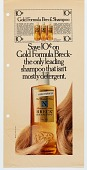 view Save 10 [cents] on Gold Formula Breck--the only leading shampoo that isn't mostly detergent. [Print advertising.] digital asset: Save 10 [cents] on Gold Formula Breck--the only leading shampoo that isn't mostly detergent. [Print advertising.] 1969.