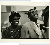 view Ray Charles and Rayette,  Hollywood, California, 1962 digital asset: Ray Charles and Rayette,  Hollywood, California, 1962
