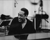 view Duke Ellington at piano during a recording session, Hollywood, California, 1960. digital asset: Duke Ellington at piano during a recording session, Hollywood, California, 1960.