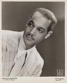 view [Mercer Ellington, studio photographic portrait : black-and-white photoprint] digital asset: [Mercer Ellington, studio photographic portrait : black-and-white photoprint, ca. 1940-1960.]