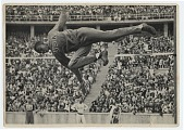 """view Lloyd A. Strickland Collection of 1936 Olympics Souvenir Materials digital asset: 7 photographs, 4-1/ 2"""" x 6-1/2"""", depicting events from the 1936 Olympics"""