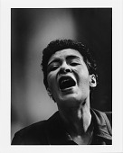 view [Billie Holiday singing : black-and-white photoprint] digital asset: [Billie Holiday singing : black-and-white photoprint]