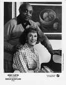 view Benny Carter / Alto Saxophone / Marian McPartland / Piano [black and white photoprint] digital asset: Benny Carter / Alto Saxophone / Marian McPartland / Piano [black and white photoprint]