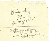 view Joseph B. Friedman Papers digital asset: Verso of Friedman's flexible straw sketch