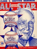 view Clark C. Griffith Memorial All Star Game program digital asset: Clark C. Griffith Memorial All Star Game program.