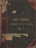 view [E. Howard Clock Orders Ledger Volume 7, book.] digital asset: Volume 7 (Addendum)