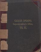 view [E. Howard Clock Orders Ledger Volume 11, book.] digital asset: Volume 11 (includes time locks)