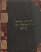 view [E. Howard Clock Orders Ledger Volume 12, book.] digital asset: Volume 12