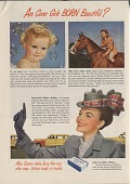 view Are Cover Girls BORN Beautiful? [Print advertising.] digital asset: Are Cover Girls BORN Beautiful? [Print advertising.] 1949.