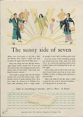 view The sunny side of seven. [Print advertising.] digital asset: The sunny side of seven. [Print advertising.] 1929.