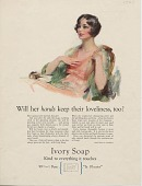 view Will her hands keep their loveliness, too? [Print advertising.] 1928 digital asset number 1