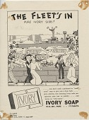 view The Fleet's In: Pure Ivory Suds! [Print advertising.] Our Navy digital asset: The Fleet's In: Pure Ivory Suds! [Print advertising.] Our Navy. 1934.