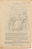 view Priscilla spinning, long ago,...[part of first line of poem] [Print advertising.] The Cosmopolitan digital asset: Priscilla spinning, long ago,...[part of first line of poem] [Print advertising.] The Cosmopolitan. 1890.