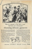 view What the salespeople in New York's 12 great department stores recommend for cleansing delicate garments. [Print advertising.] The Century Magazine digital asset: What the salespeople in New York's 12 great department stores recommend for cleansing delicate garments. [Print advertising.] The Century Magazine. 1926