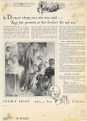 """view In Detroit shops, too, she was told..""""Keep fine garments.."""". [Print advertising.] digital asset: In Detroit shops, too, she was told..""""Keep fine garments.."""". [Print advertising.] 1926"""