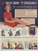 view 257 Miles From 1 Pair of Stockings! [Print advertising.] True Story digital asset: 257 Miles From 1 Pair of Stockings! [Print advertising.] True Story. 1939.