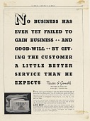 view No Business Has Ever Yet Failed to Gain Business--And goodwill... [Print advertising.] Linen Supply News digital asset: No Business Has Ever Yet Failed to Gain Business--And goodwill... [Print advertising.] Linen Supply News. 1939.