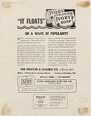 view It Floats: On A Wave Of Popularity. [Print advertising.] Canadian Grocer digital asset: It Floats: On A Wave Of Popularity. [Print advertising.] Canadian Grocer. 1939.