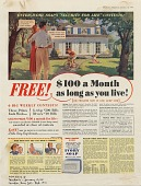 view Free! {dollar} 100 a Month as long as you live! [Print advertising.] General Canadian publications digital asset: Free! {dollar} 100 a Month as long as you live! [Print advertising.] General Canadian publications. 1941