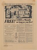 view Free! {dollar}100 a Month as long as you live! [Print advertising.] Hawaiian News digital asset: Free! {dollar}100 a Month as long as you live! [Print advertising.] Hawaiian News. 1941