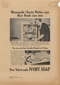 view Minneapolis Charity Worker says Busy Hands Stay Nice. [Print advertising.] digital asset: Minneapolis Charity Worker says Busy Hands Stay Nice. [Print advertising.] 1942.